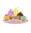 Cupcakes in the vector image vector image