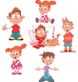 Cute Little Girls and Boys vector image vector image