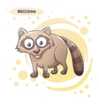Drawn Cartoon Raccoon vector image vector image