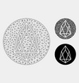 eos currency mesh carcass model and vector image vector image