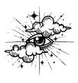 eye providence masonic symbol all seeing vector image