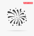 Firework icon or with petard stars festival and