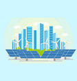 flat modern city icon concept vector image vector image