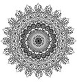 floral round line art mandala vector image vector image