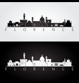 florence skyline and landmarks silhouette vector image vector image