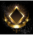 Gold Banner Rhombus vector image vector image