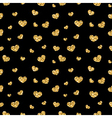 Golden hearts seamless pattern 3 black vector image vector image