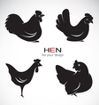 group hen design vector image vector image