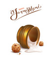 happy janmashtami lettering text and overturned vector image vector image
