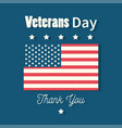 happy veterans day thank you card american flag vector image vector image