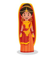 indian bride cartoon character vector image