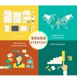 Infographic of Brand strategy - four items vector image vector image