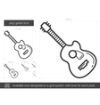 Jazz guitar line icon vector image vector image