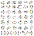 Line 3D Arrows Icon Set