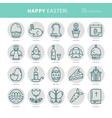 linear monochrome icons easter vector image vector image