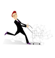 lucky businessman vector image vector image