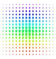 man head profile icon halftone spectrum effect vector image vector image