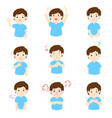 man with different emotions cartoon vector image