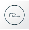 men footwear icon line symbol premium quality vector image