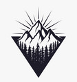 mountains logo or badge or label design template vector image