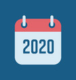 new year 2020 calendar icon vector image