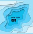 papercut geometric frame vector image vector image