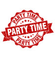 party time stamp sign seal vector image vector image