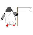penguin with flag vector image vector image
