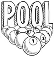 Pool vector image vector image