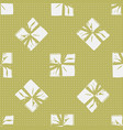seamless christmas gift box present pattern vector image