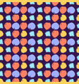 seamless colorful pattern with circles vector image vector image