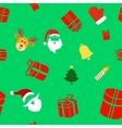 Seamless holiday background with cute Christmas vector image
