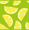 seamless pattern lemon isolated on green vector image vector image