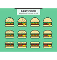 Set of different shape burgers vector image