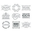 Set of labels for organic products vector image