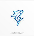 shark template vector image vector image