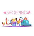 shopping mania background composition vector image
