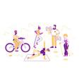 sport activities set people doing sports vector image