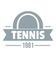 tennis logo simple gray style vector image vector image