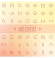 Trendy Line Icons Web Mobile Applications vector image vector image