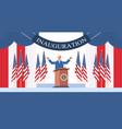 usa inauguration day concept democrat winner of vector image vector image