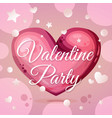 valentine party invitation layout vector image vector image