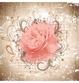 Vintage Abstract Peony Flower vector image vector image