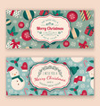 winter objects pattern and greeting text vector image vector image
