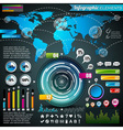 world map design set infographic elements vector image
