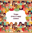 frame group of happy children vector image