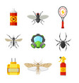 pest control flat icon set vector image