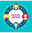 Social Media Group Of People vector image