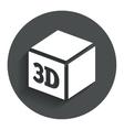 3d print sign icon cube printing symbol