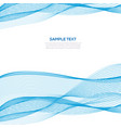 abstract blue wave business background template vector image vector image